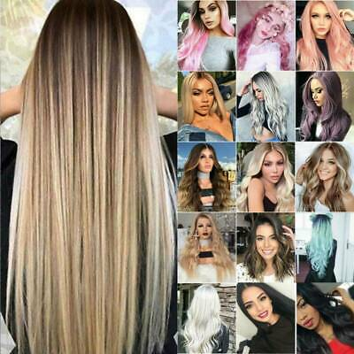 £14.49 • Buy Lady Full Head Hair Wig Real Natural Long Curly Wave Straight Cosplay Wigs Ombre