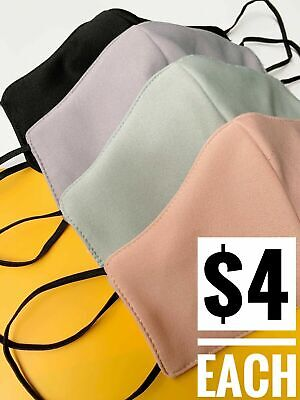 AU16 • Buy 3 Layers FACE MASK Mid Layer WATERPROOF Washable Reusable FACEMASK Australia
