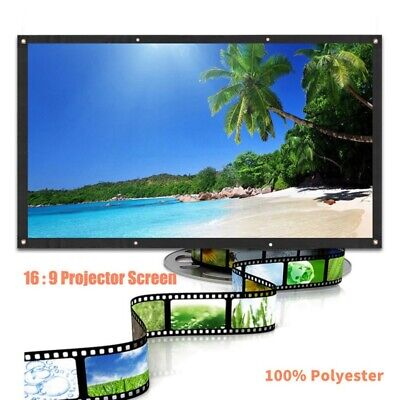 AU30.44 • Buy 60-120 Inch Portable Foldable Projector Screen 16:9 HD Home Room Outdoor Theater