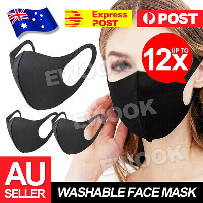 AU7.90 • Buy Face Mask Washable Unisex Mouth Masks Protective Reusable SYD IN STOCK