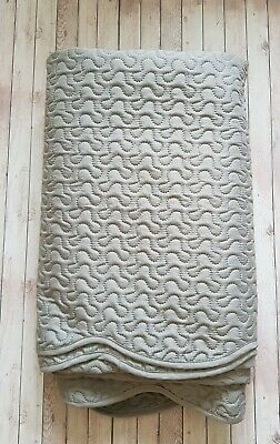Jeff Banks Pour La Maison Grey Lightly Quilted Double Bedspread • 25£