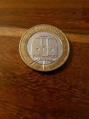 Two Pound £2 Coin - London Underground Train • 4.48£
