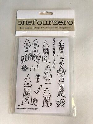 Onefourzero Clear Unmounted Craft Stamp Houses Home New • 8.50£