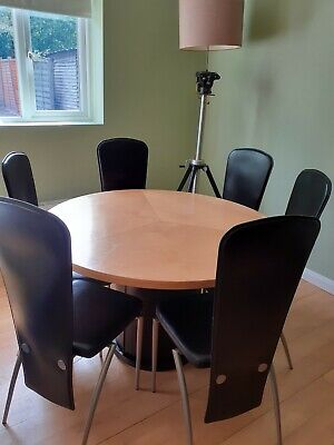 Skovby  Maple Dining Table And 6 Frag  Chairs • 450£