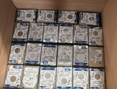 $ CDN2824.54 • Buy  Lot Of 500GB Laptop Wiped & Tested Working SATA 2.5 Laptop Hard Drives HDD Used