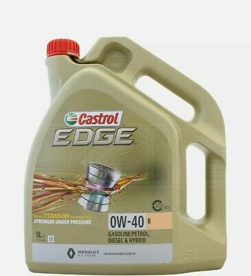 Castrol Edge Titanium 0w-40 5 Litres A3 B4  Fully Synthetic Engine Oil • 39.99£
