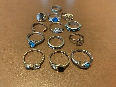 $ CDN39.55 • Buy Vintage  Jewelry Rings Lot Of 13 Ready To Ware