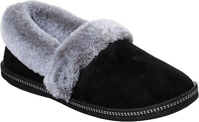 Skechers SK32777 Cozy Campfire Team Toasty Black Ladies Fur Lined Warm Slippers • 29.71£
