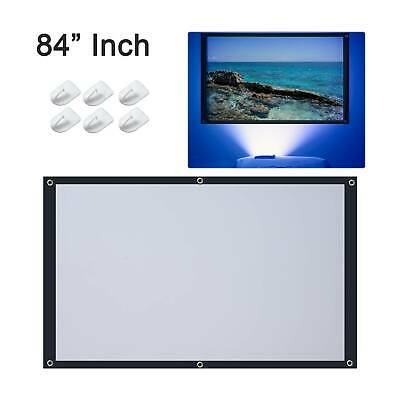 £7.19 • Buy 84  Inch Projector Projection Screen 16:9 White Matte 3D HD Home Cinema Theater