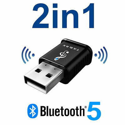 £3.45 • Buy 2 In 1 USB Bluetooth 5.0 Transmitter Receiver AUX Audio Adapter For TV/PC/Car UK