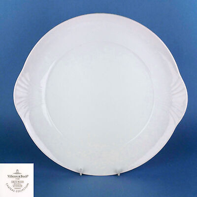 VILLEROY BOCH Arco White Weiss 30cm Cake Plate - NEW • 65£