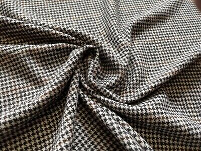 £9.99 • Buy Wool Blend Brushed Puppytooth Check Fabric, Per Metre