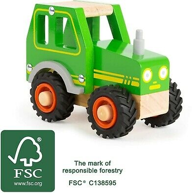 Small Foot Tractor Vehicle 11078 Vehicles Wood Wooden Toy Push A Long • 11.99£