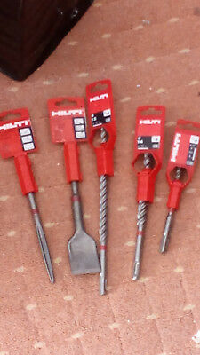 Hilti Drill & Chisel Bits + Hilti Glasses + Hilti Greese & Towel + Calculator • 125£