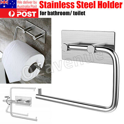 AU17.29 • Buy Stainless Steel Suction Cup Toilet Paper Roll Holder Tissue Rack No Drilling Pro