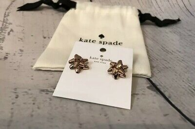 $ CDN33.51 • Buy Kate Spade New York Rose Gold Bourgeois Bow Stud Earrings With Dust Bag NWT