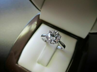 1.5Ct Round Cut Diamond Vintage Solitaire Engagement Ring 18ct White Gold Over • 88£