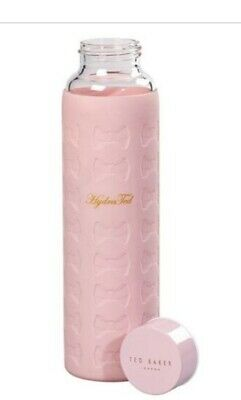 Ted Baker Glass Water Bottle With Pink Silicone Sleeve 360ml • 14.50£