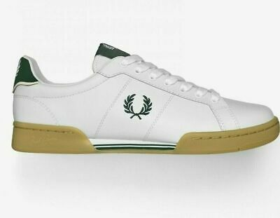 Fred Perry Mens Trainers B722 Leather Tennis Shoes White & Green Size 8-11 B6202 • 44.95£