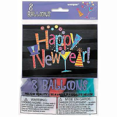 £2.49 • Buy New Year Balloons Countdown New Years Eve Party Decorations  8 Latex Balloons