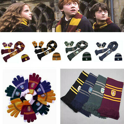 $ CDN9.61 • Buy Harry Potter Scarf Gryffindor-Slytherin-Hufflepuff-Raveclaw Kint Hat Touch Glove