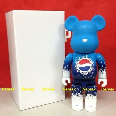 $879.99 • Buy Medicom 2011 Be@rbrick Pepsi Coca Cola 400% Mat Blue Limited Edition Bearbrick