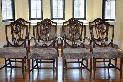$2200 • Buy Bevan Funnell Reprodux Mahogany Georgian Dining Chairs - One Set Of Eight Chairs