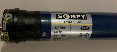 Somfy Lyra LS40 1.3/55 Motor, Used, Tested, 450mm Long, 35mm Diameter. • 110£