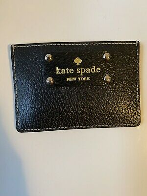 $ CDN24.99 • Buy Kate Spade Cameron Grand Flora Small Slim Card Holder Case Wallet Black - Mint