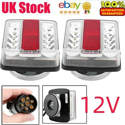 £24.43 • Buy 12V Magnetic LED Trailer Towing Lights Rear Tail Board Lamps 10M Cable UK STOCK