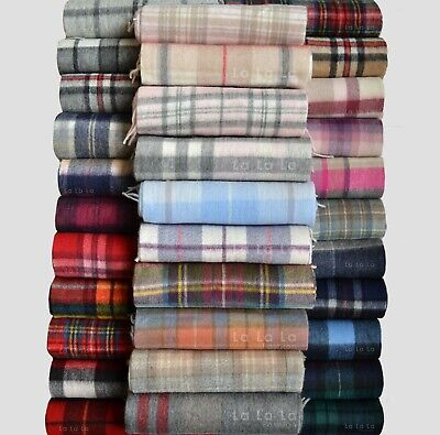 New Scottish 100% Lambswool Of Scotland Scarf Tartan Check Wool Scarves • 15.15£