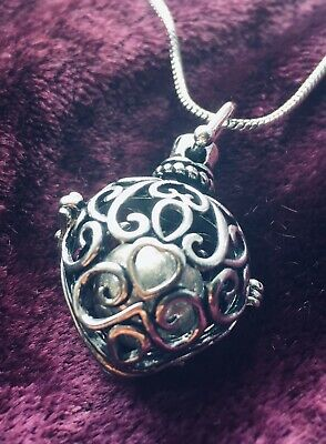 £11.99 • Buy Heart Cascade Harmony Bell Pendant/Locket,Necklace,Chime, Pregnancy, Ladies Gift