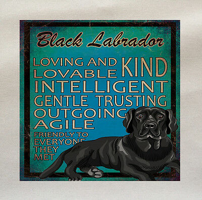 Black Labrador Lab Dog Fabric Cotton Panel Make A Cushion Upholstery Craft • 5.50£