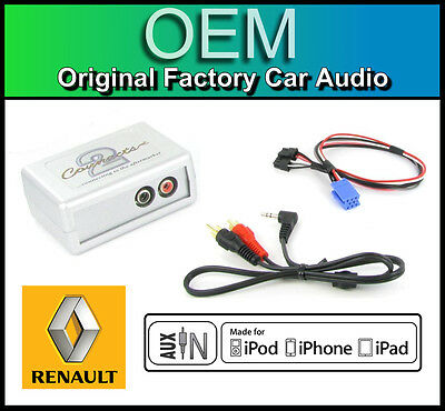 Renault Espace AUX In Lead Car Stereo IPod IPhone Player Adapter Connection Kit • 39.99£