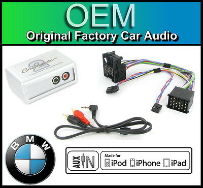 BMW X5 Series E53 AUX In Lead Car Stereo IPod IPhone Player Adapter Connection • 39.99£