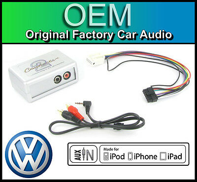 VW Golf MK6 AUX In Lead Car Stereo IPod IPhone MP3 Player Adapter Connection Kit • 39.99£