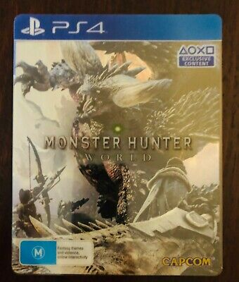 AU79 • Buy Monster Hunter World Steel Book Edition PS4 Perfect Condition
