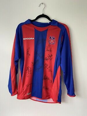 *Signed By First Team* Crystal Palace 2006 - 2007 Home Football Shirt • 24.99£