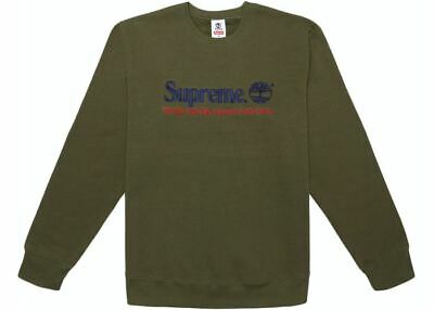 $ CDN266.67 • Buy SUPREME Timberland Crewneck Dark Olive M Box Logo Camp Cap S/S 20