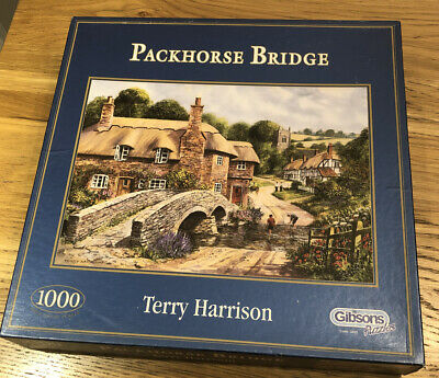 "Gibsons ""Packhorse Bridge""1000 Piece Jigsaw Puzzle By Terry Harrison • 12£"