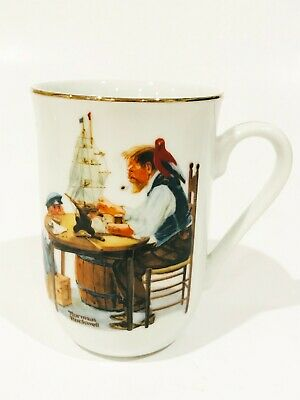$ CDN9.99 • Buy Norman Rockwell Museum Vintage Collectible Porcelain Mug -  For A Good Boy  1982