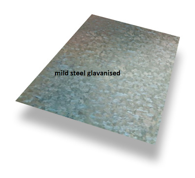 £8.50 • Buy 3mm Thick - MILD STEEL GALVANISED SHEET/PLATE - Numerous Sizes - Free Cutting