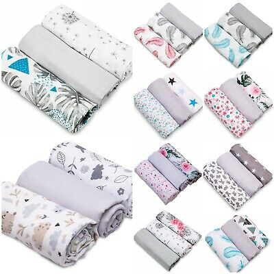 View Details Baby Soft Muslin Nappies Cloth Diaper 100% Cotton  3-pack Colourful 70x80cm  • 6.99£