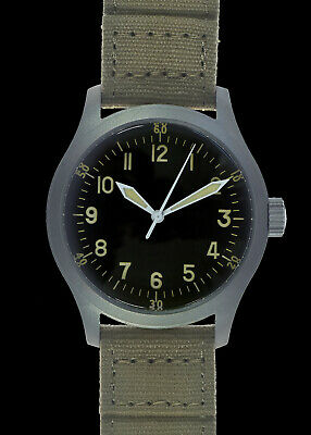 $ CDN180.76 • Buy A-11 1940s WWII Pattern Military Watch (Hybrid) With 100m/330ft Water Resistance