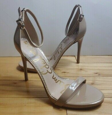 $ CDN53.44 • Buy Sam Edelman Womens Ariella Nude Patent Leather Ankle Strap 4.5  Heels Sz 7 Or 8