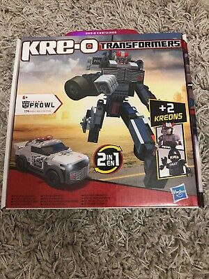 KREO Transformers PROWL 2 In 1 Construction Toy Figure Set 30690 - Used • 9.50£