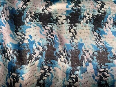 £3.99 • Buy Silky Satin Fabric, Per Metre - Houndstooth Check Print