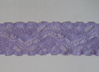 $ CDN2.41 • Buy CRAFT-SEWING-ELASTIC 2mtrs X 45mm Lavender Stretch Lace