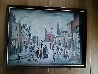 LS Lowry A Lancashire Village Signed Version Picture In Frame  • 9.99£
