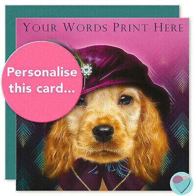 £3.80 • Buy Mum Sister Daughter Cocker Spaniel Birthday Card Relation Name To From Dog Fan